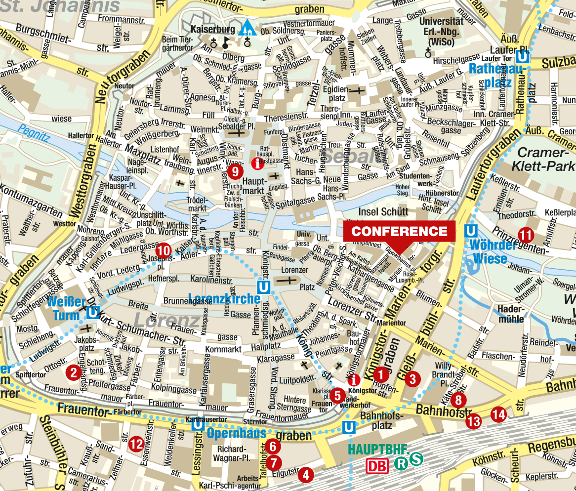 Accommodation Psychology and Law Conference Nuremberg 47 August 2015 – Nuremberg Tourist Map